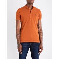 Sport Officer-collar slim-fit cotton-piqué polo shirt