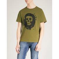 张国柱 格瓦拉 头骨 打印 吨-衬衫