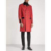 Military wool-blend coat