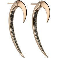 Shaun Leane Tusk rose gold earrings, silver