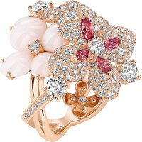 CHAUMET | Chaumet Hortensia 18ct rose-gold, diamond, opal and sapphire ring | Goxip