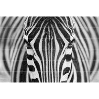 Zebra wall decoration large