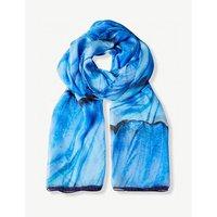 Blue Morpho silk scarf