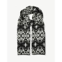Galena silk-chiffon scarf