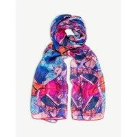 Twinning Crystal silk scarf