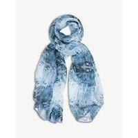 Blue Goddess silk scarf