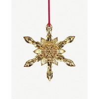 Crystal and 20ct gold Christmas snowflake hanging decoration 11cm