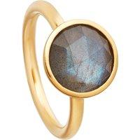 Stilla 18ct yellow-gold plated labradorite ring