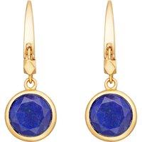 Stilla 18ct gold-plated lapis lazuli earrings