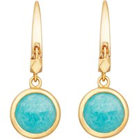 Stilla 18ct gold-plated amazonite earrings