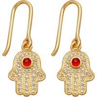 Biography 18ct yellow-gold plated hamsa earrings