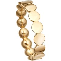Disc Stilla 18ct yellow gold-plated sterling silver ring