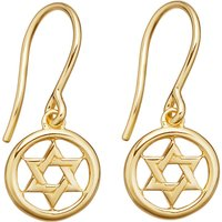 Star of David Biography rose gold-plated drop earrings