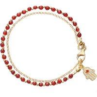 Hamsa red agate friendship bracelet