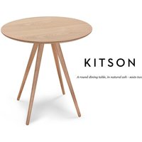 kitson round dining table, natural ash