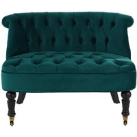 Bouji Love Seat, Seafoam Blue Velvet