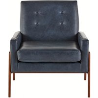 Cecil Armchair, Oxford Blue Premium Leather