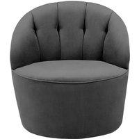 Margot Swivel Accent Chair, Pewter Grey Velvet