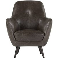 Prado Accent Chair, Antique Grey Leather