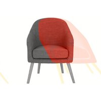 Chloe Accent Chair, Tuscan Orange
