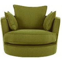 Leon Swivel Love Seat, Basil Green