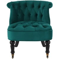 Bouji Accent Chair, Seafoam Blue Velvet