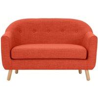 Lottie 2 Seater Sofa, Tuscan Orange