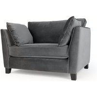 Wolseley Love seat, Pewter Grey Velvet