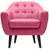 Ritchie Armchair, Candy Pink with Rainbow Buttons