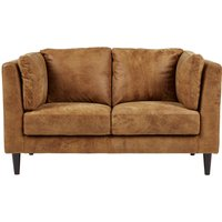 Lindon 2 Seater Sofa, Outback Tan Leather