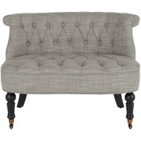 Bouji Love Seat, Linen Mix Grey