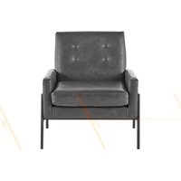 Cecil Armchair, Oxford Grey Premium Leather