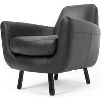 Jonah Armchair, Liquorice Black Premium Leather