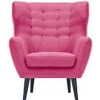 Kubrick Wing Back Chair, Candy Pink With Rainbow Buttons