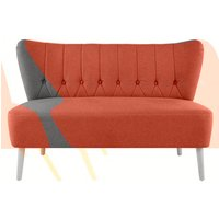 Charley 2 Seater Sofa, Retro Orange