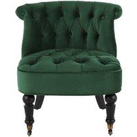 Bouji Accent Chair, Pine Green Velvet