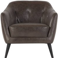 Nevada Armchair, Antique Grey Leather