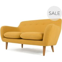 Dylan 2 Seater Sofa, Yolk Yellow
