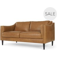 Ashwell Large 2 Seater Sofa, Pecan Brown Leather