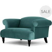 Claudia Loveseat, Peacock Blue Velvet
