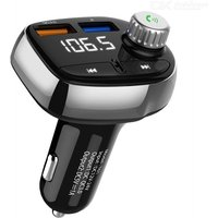 QC3.0 Fast Car Charger Dual USB Bluetooth FM Transmitter Wireless MP3 Music Player Hands-free Car Kit