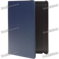Protective Swivel PU Leather Case for Ipad 2 - Blue