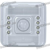 PIR Motion Activated 8-LED Neutral White Lamp - Silver (2*AA)