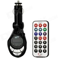 Car MP3 Player FM Transmitter with SD Slot and IR Remote - Black