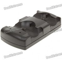 USB Charging Cradle/Dock for Dual PS3 Remote Controls/Move Controls - Black