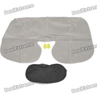 3-in-1 Inflatable Pillow + Sleeping Eyeshade + Earplug Travel Set - Random Color