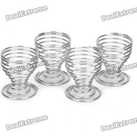 Goblet Style Stainless Steel Egg Trays (4-Pack)