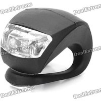 Bicycle Silicone Led Head Front Rear Wheel Light Waterproof Bike Lamp Light - Black (2 X Cr2032)