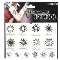 ym-k009-fashionable-sunflower-pattern-tattoo-paper-sticker-black