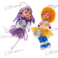 cute-doll-clock-keychains-assorted-2-pack